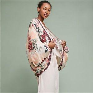 Anthropologie Floreat Floral Kimono O/S NWT